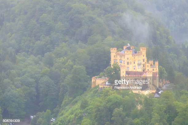 CONTENT] View of Hohenschwangau Castle located in the German village of Schwangau near the town of Fussen