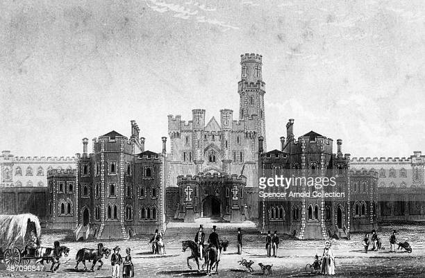 A view of Holloway Prison north London circa 1855 Built in 1852 HM Prison Holloway became a femaleonly prison in 1903