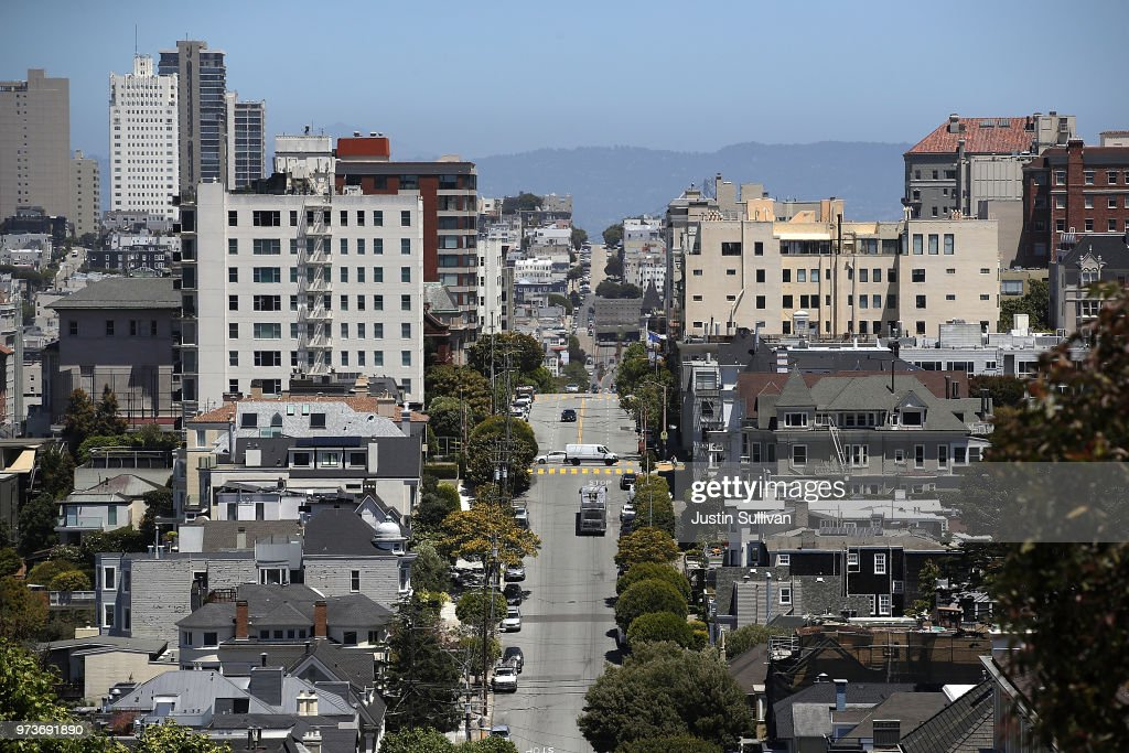 A view of homes and apartments on June 13, 2018 in San Francisco, California. According to a new survey by the National Low Income Housing Coalition, renters in San Francisco need an income of $60 per hour to afford a two bedroom apartment in the city. San Francisco is followed by San Jose at $48 per hour and Oakland at $45 per hour.