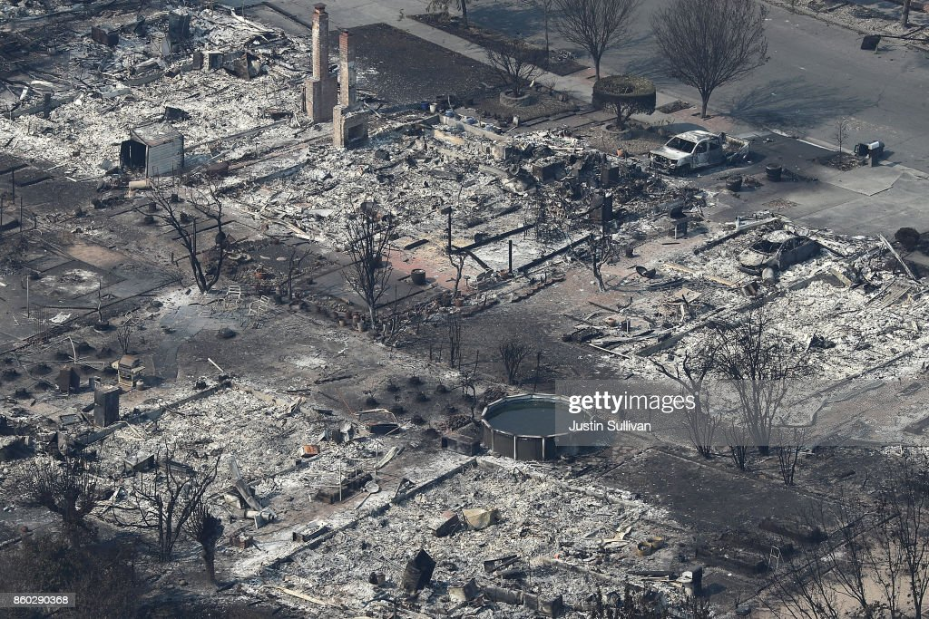 Multiple Wildfires Destroy Homes, Threaten California Wine Country : News Photo