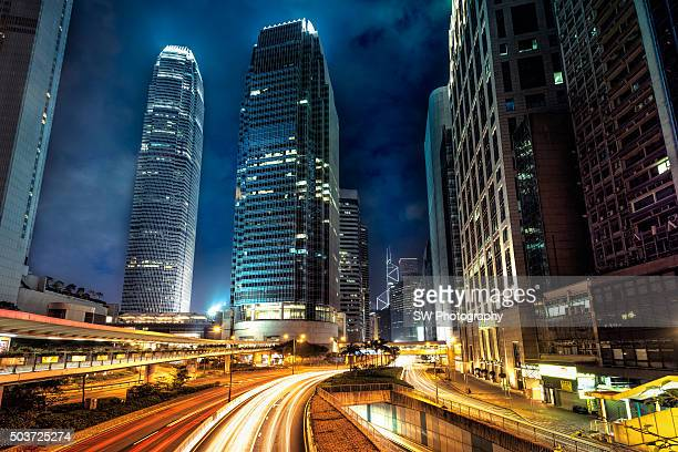view of hong kong, china - two international finance center stock pictures, royalty-free photos & images