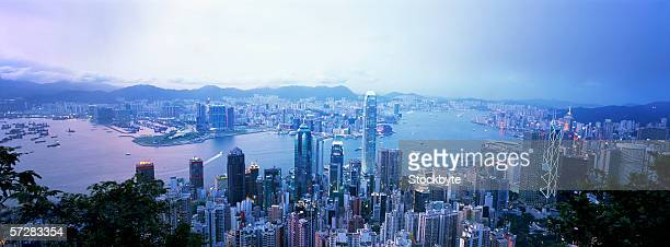 View of Hong Kong harbour from Victoria peak