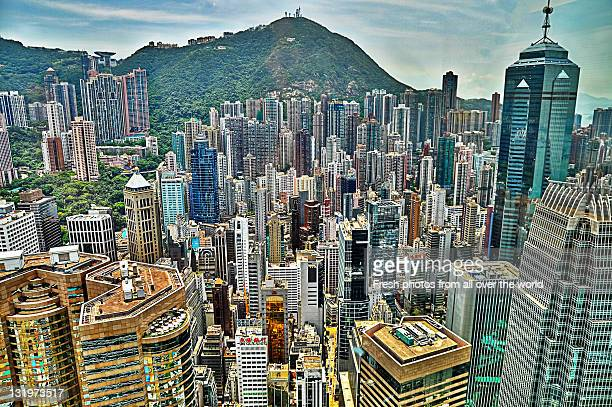view of hong kong - hong kong stock pictures, royalty-free photos & images