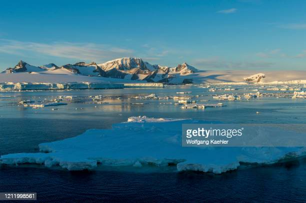 View of Hope Bay on the tip of the Antarctic Peninsula from the Antarctic Sound.
