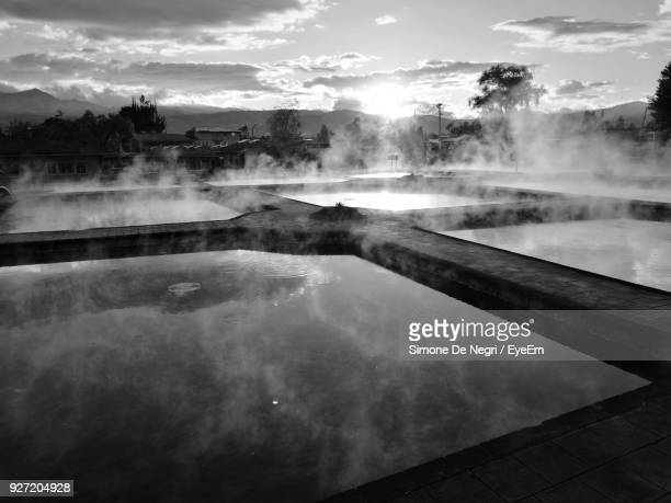 View Of Hot Spring Against Sky