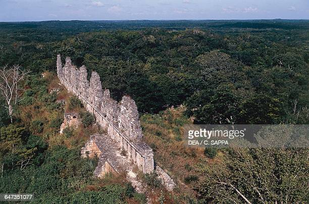 View of House of the Doves Uxmal Yucatan Mexico Mayan civilisation 8th9th century