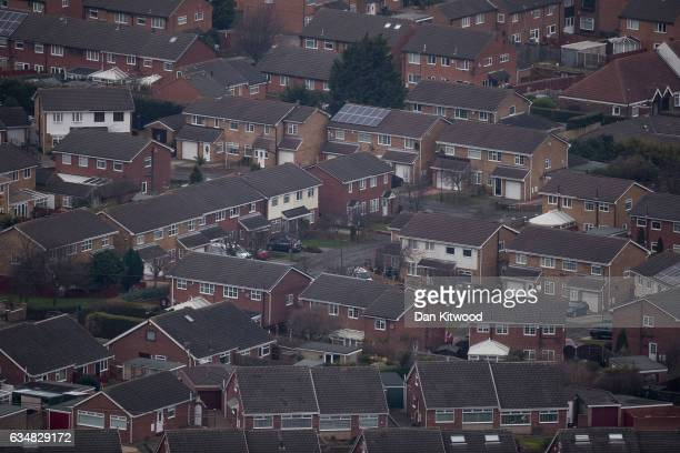 A view of housing in Redcar from Eston Nab in North Yorkshire on February 8 2017 in Middlesbrough United Kingdom The borough of Redcar and Cleveland...