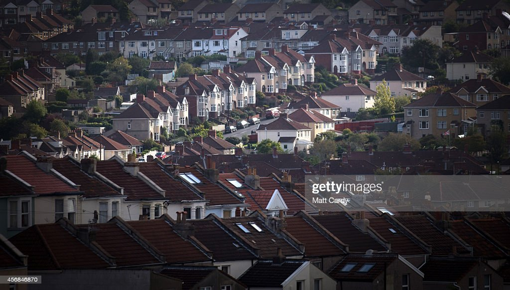 A view of housing on October 8, 2014 in Bristol, England. On the first anniversary of the introduction of second phase of the Help to Buy scheme, which provides a government partial guarantee on high loan-to-value mortgages, a new survey from the The Centre for Economics and Business Research (CEBR) claims that house prices in 2015 are set for their first decline since 2011.