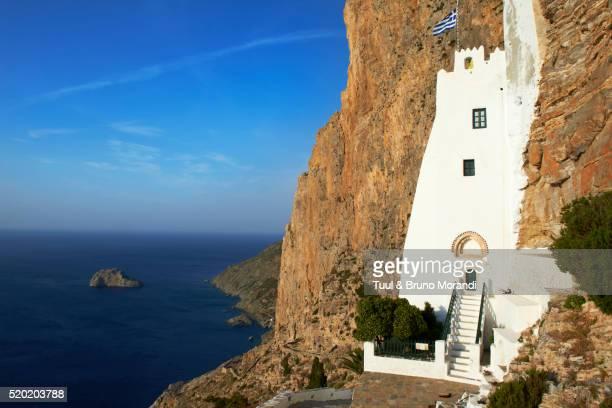 View of Hozoviotissa monastery, Amorgos, Cyclades, Greece