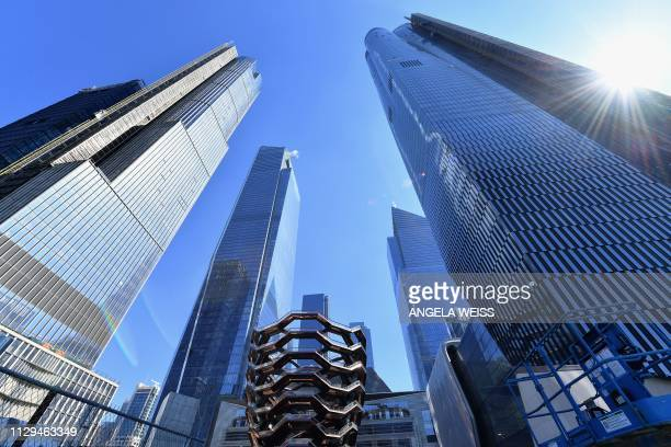 View of Hudson Yards on March 9, 2019 in New York City, the largest private real estate development in the US. - The property will include more than...