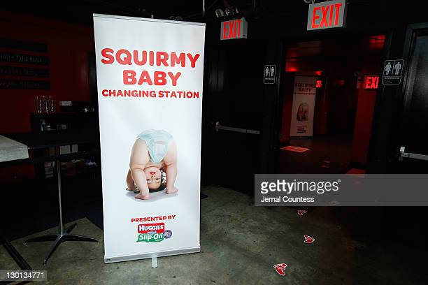 A view of Huggies Little Movers SlipOn Diapers sponsored Baby Loves Disco at Le Poisson Rouge on October 23 2011 in New York City