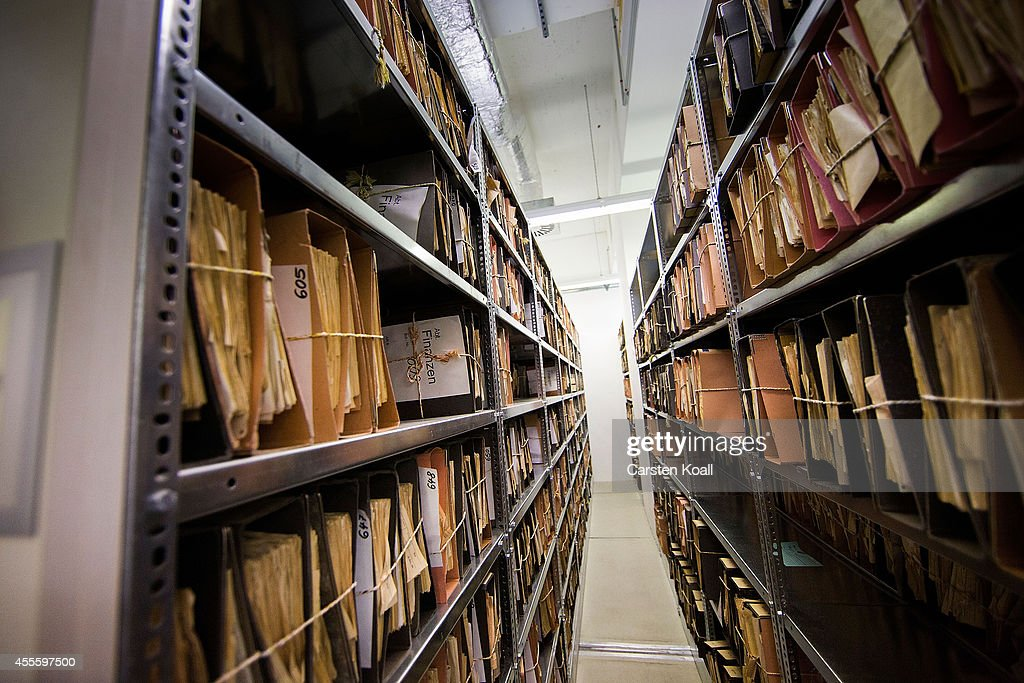 A view of hundreds of files lining the shelves in the archives of the former East German secret police, known as the Stasi on September 17, 2014 in Berlin, Germany. The Stasi, whose official function was to protect the East German communist party, pursued an extremely aggressive campaign of spying on East German citizens in order to confine and root out dissent. The archive contains information gathered by the Stasi on millions of people. This November Germany will commemorate the 25th anniversary of the fall of the Berlin Wall which led to the demise of communist East Germany.
