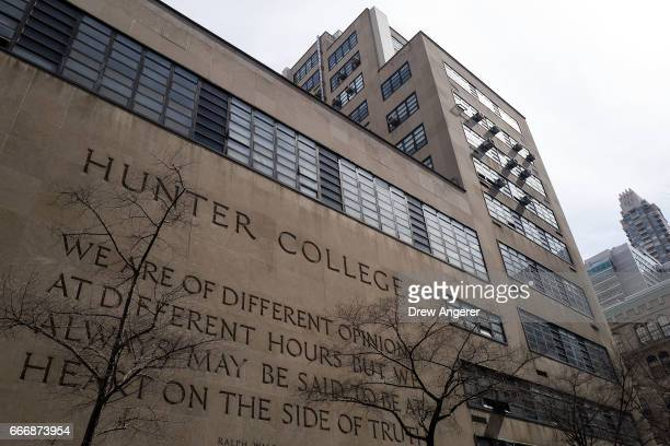 A view of Hunter College of The City University of New York April 10 2017 in New York City Following a state budget approval on Sunday New York will...