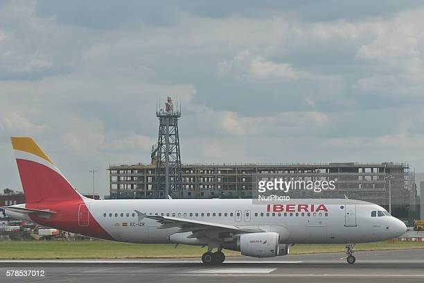 A view of Iberia Airlines plane a flag carrier and the secondlargest airline of the United Arab Emirates at London Heathrow Airport On Thursday 21...