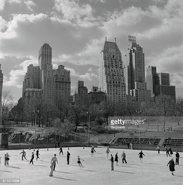View of Ice Skating in Central Park