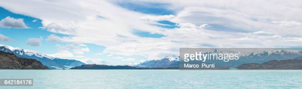 View of icebergs, mountains and glaciers, Patagonia