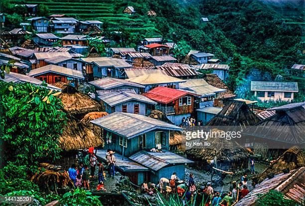 view of igorot village - ken ilio stock photos and pictures