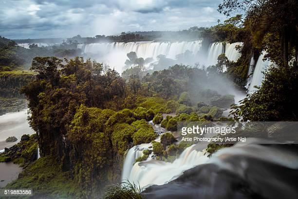 View of Iguazu Falls, Argentine Province Of Misiones, South America