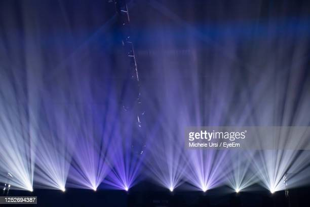 view of illuminated lights at night - livestock show stock pictures, royalty-free photos & images