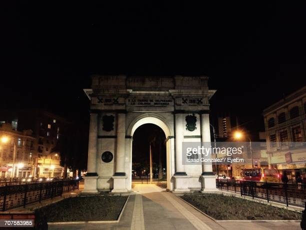 View Of Illuminated Triumphal Arch