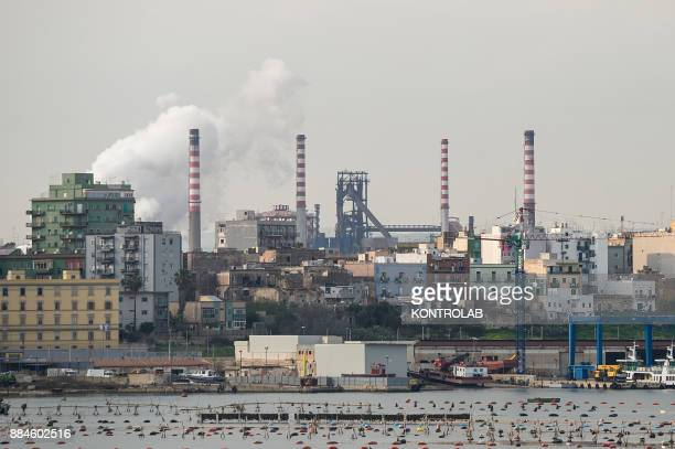 A view of Ilva di Taranto one of the biggest steel mills in Europe at the center of an environmental political dispute