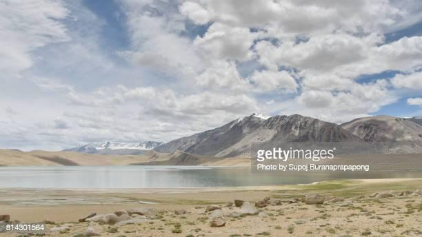 View of India Road trip to Tso Moriri or Lake Moriri- Ladakh Changthang Plateau, Jammu and Kashmir, India.