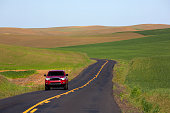 palouse region roadway through farmland
