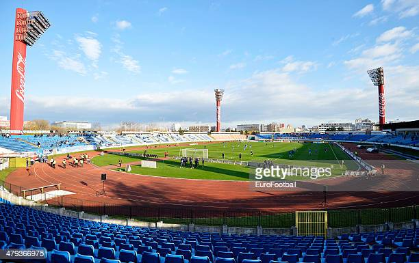 A view of inside the Stadion Pasienky before the Corgon liga league football match between Slovan Bratislava and Spartak Trnava at the Stadion...