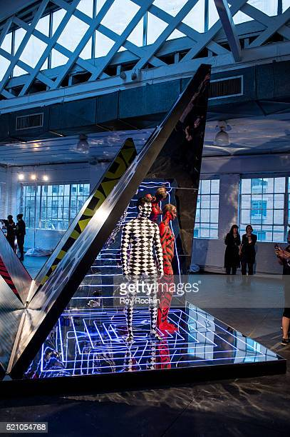 View of installation during MAC Cosmetics 'Pro To Pro' event at Industria Superstudio on April 13 2016 in New York City