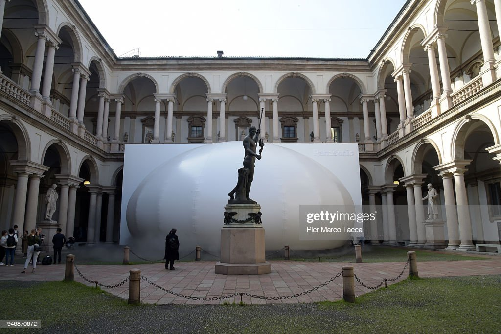A view of installation 'Transitions by Panasonic Design' at the Pinacoteca di Brera is displayed for Panasonic 100th aniversary during the Milan Design Week on April 16, 2018 in Milan, Italy.