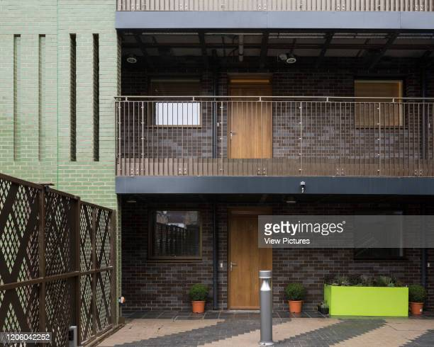 View of interior courtyard. Ladbroke Grove housing project, Ladbroke Grove, United Kingdom. Architect: Child Graddon Lewis , 2018.