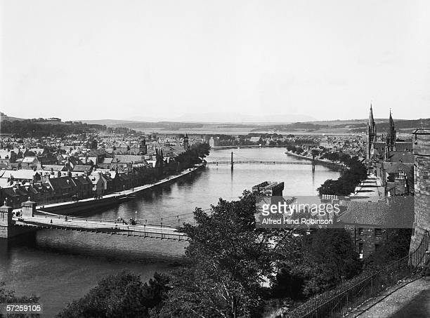 A view of Inverness from the County Buildings circa 1930