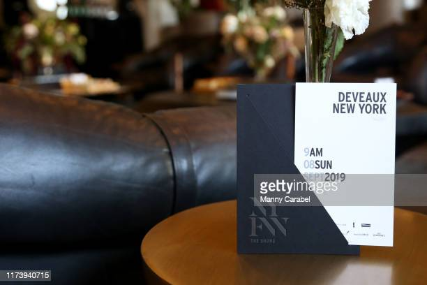 View of invitation during September 2019 - New York Fashion Week: The Shows - Day 8 at Spring Studios on September 11, 2019 in New York City.
