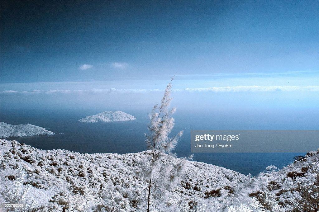 View Of Islands On Sea : Foto stock