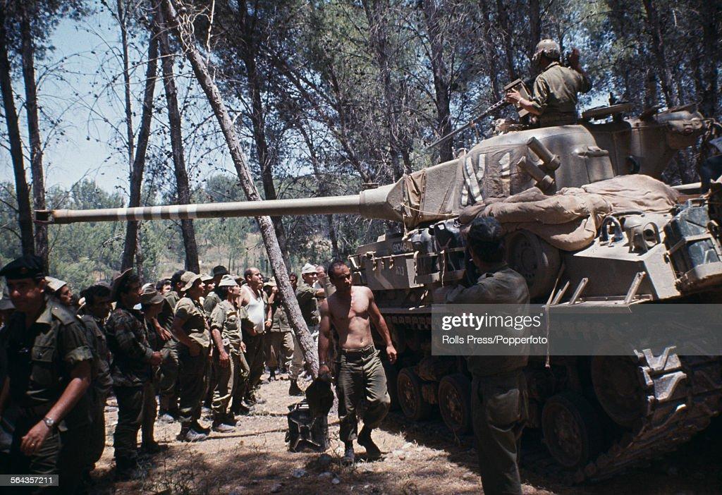 Israeli Troops During Six Day War : News Photo