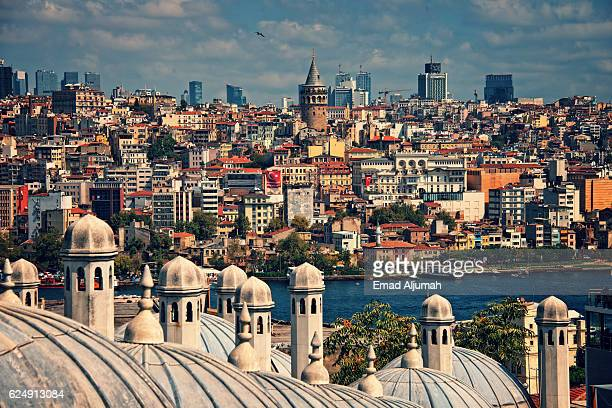 View of Istanbul from the Süleymaniye Mosque, Istanbul, Turkey