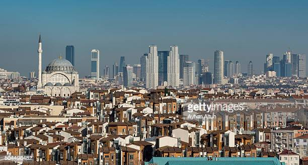 view of istanbul skyline from the old city,turkey - contemporary istanbul foto e immagini stock