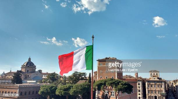 View Of Italian Flag Against Clear Sky