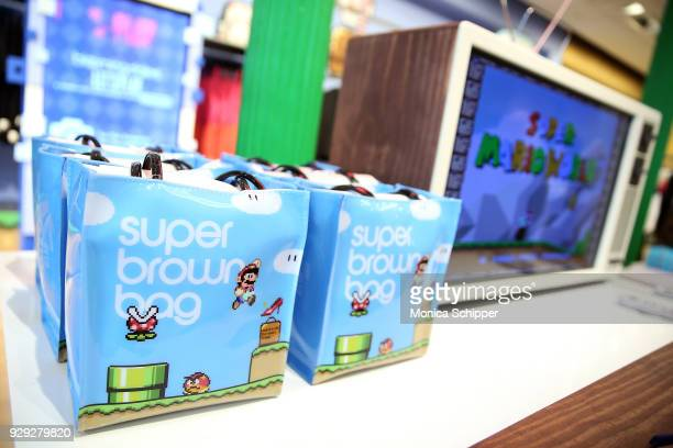 A view of items from the collection during the Bloomingdale's launch of an exclusive collection with Nintendo on March 8 2018 in New York City