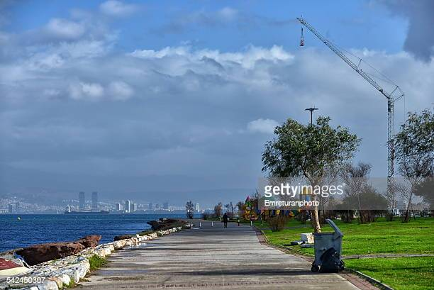 view of izmir bay from inciralti - emreturanphoto stock pictures, royalty-free photos & images