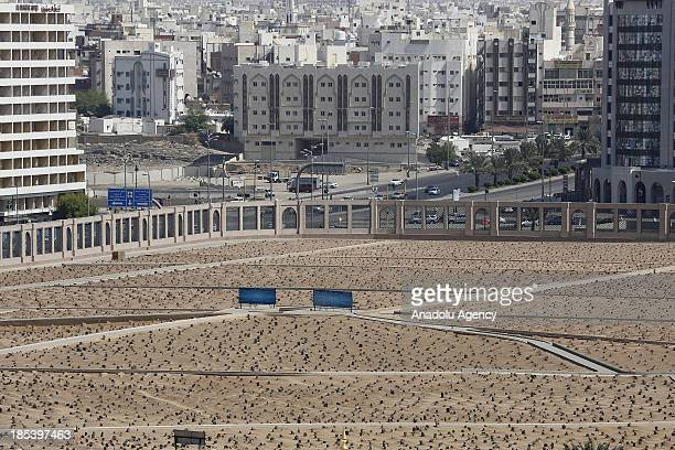 A view of Jannatul Baqi cemetery located to the southeast of the Masjid alNabawi which enclose the tomb of relatives of Prophet Muhammad and number...