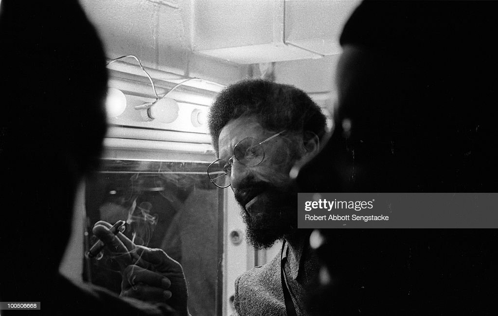 View of jazz tenor saxophonist Sonny Rollins backstage at the Jazz Showcase, Chicago, IL, 1972.