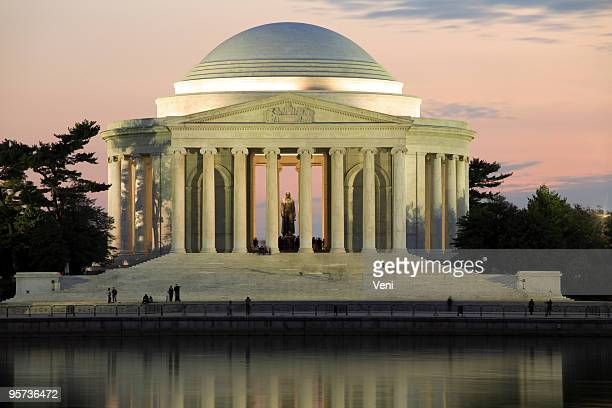 A view of Jefferson Memorial, Washington DC during sunset