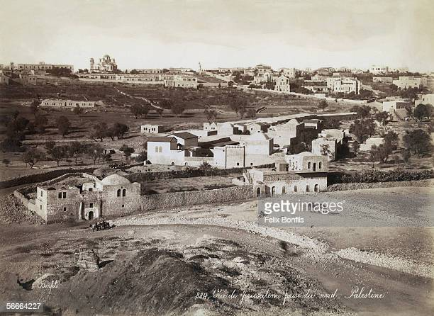 A view of Jerusalem from the north during the period of Ottoman control circa 1870 The Russian church can be seen on the horizon to the left
