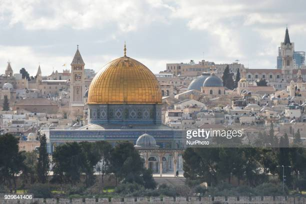 A view of Jerusalem Old City with the Dome of the Rock in the first plan On Wednesday 14 March 2018 in Jerusalem Israel