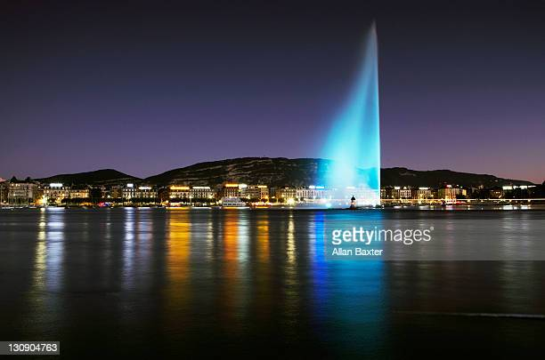 View of 'Jet d'Eau' fountain