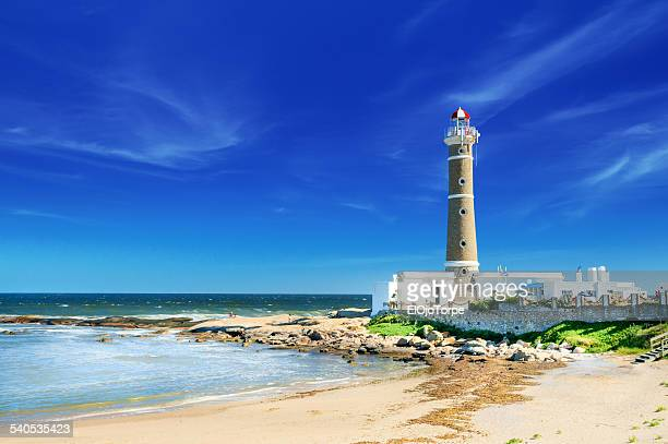view of josé ignacio lighthouse, maldonado, uruguay - maldonado uruguay stock pictures, royalty-free photos & images