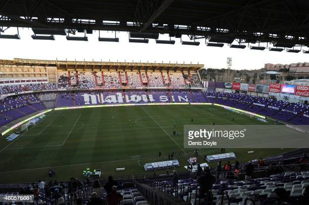 View of Jose Zorilla stadium before the La Liga match between Real Valladolid CF and Real Betis Balompie on January 4 2014 in Valladolid Spain