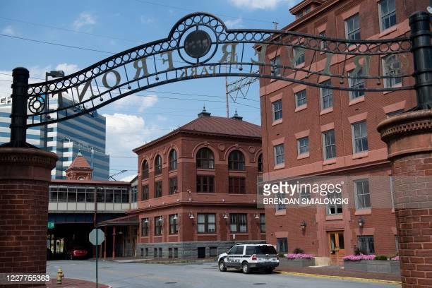 View of Joseph R. Biden, Jr., Railroad Station, an Amtrak train station, July 21 in Wilmington, Delaware. - Unmarked secret service cars bar access...