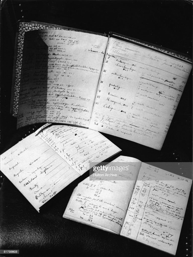 Notebooks Used By Marie And Pierre Curie : ニュース写真
